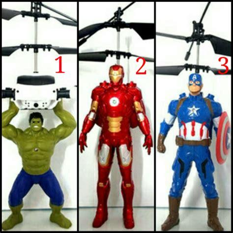 Mainan Helikopter Bisa Terbang jual edisi terbatas mainan terbang flying dolls ironman robotnya bisa terbang karakter ironman