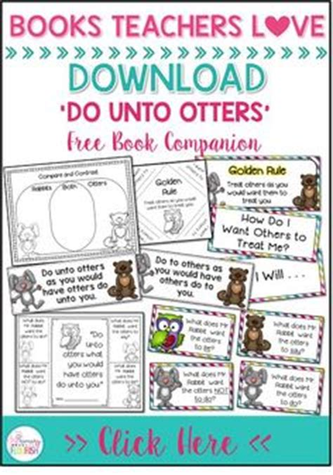 do unto otters interactive read aloud lesson plans and activities