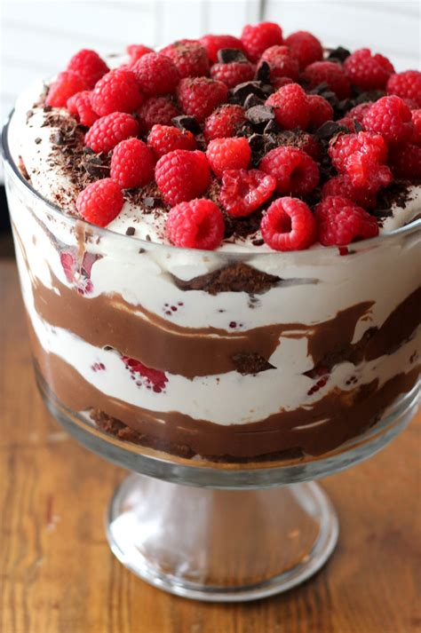recipes with raspberries triple chocolate trifle with raspberries a hint of honey