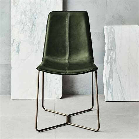 Metal And Leather Dining Chairs Metal And Leather Dining Chairs Slope Leather Dining Chair West Elm In Home Designs
