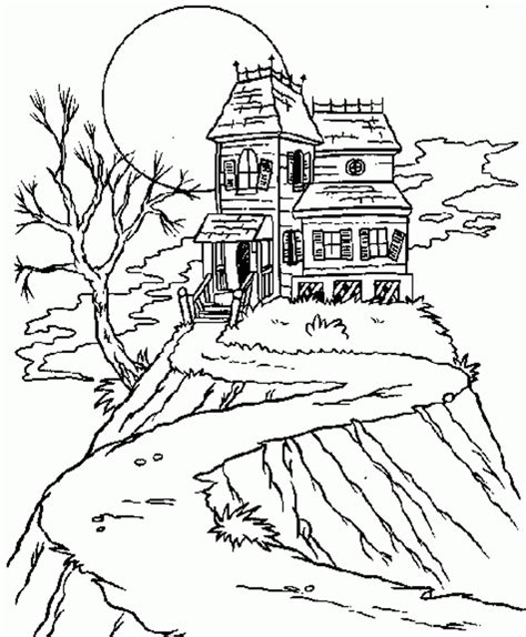 House Coloring Pages Games | haunted house picture coloring pages 44 games the sun