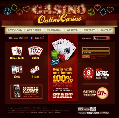 Online Casino Flash Template 16846 Free Casino Templates