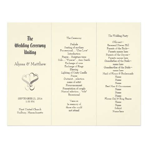 trifold wedding programs atdisability com