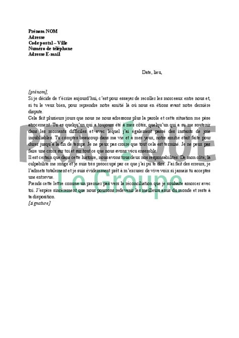Exemple De Lettre A Un Ami Lettre D Excuses Pour Un Ami Pratique Fr