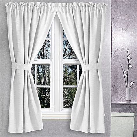 36 X 45 Curtains Buy Avalon 36 Inch X 45 Inch Bath Window Curtain Pair In White From Bed Bath Beyond