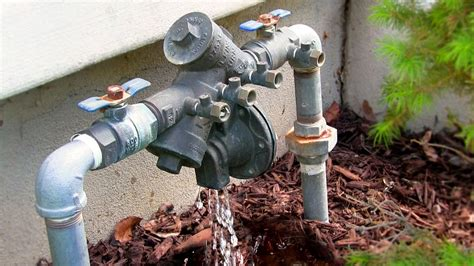 Fix A Leaking Faucet How To Fix A Leaking Backflow Preventer Repair Zurn