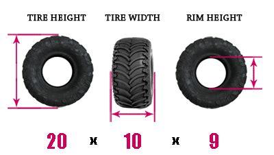 tire size explanation atv tire sizes explained