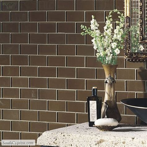 brown subway tile bathroom brown subway tile decor home care pinterest
