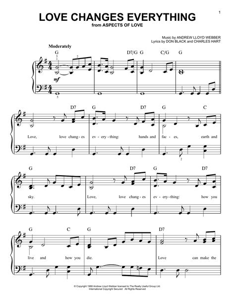 music and love is the key to everything that s what my love changes everything sheet music direct