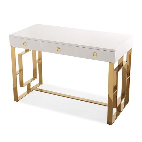 white lacquer desk siena white lacquer modern office desk contemporary
