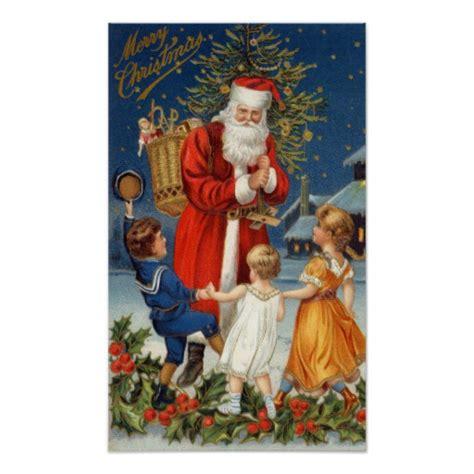 printable santa poster old world santa claus posters old world santa claus