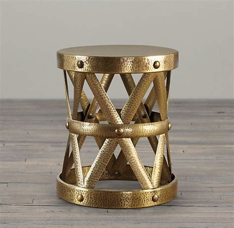 Restoration Hardware For Sale by Colonial Drum Table Antique Brasson Sale At