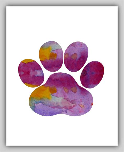 paw print infinity water color paw print paw prints watercolor by