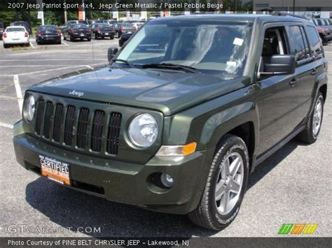 green jeep patriot jeep green metallic 2007 jeep patriot sport 4x4 pastel