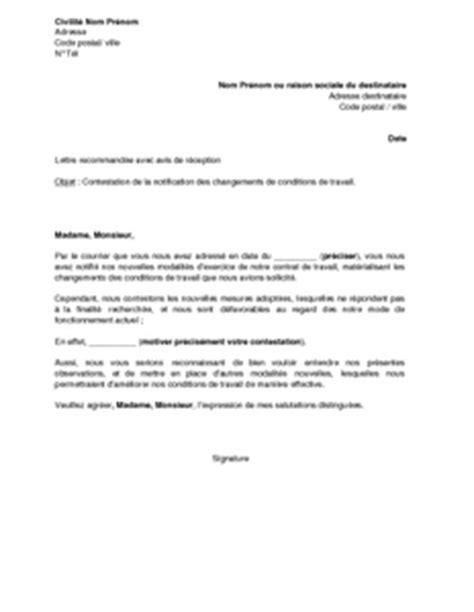 Modification Contrat De Travail Délégué Du Personnel by Letter Of Application Modele De Lettre Pour Changement De