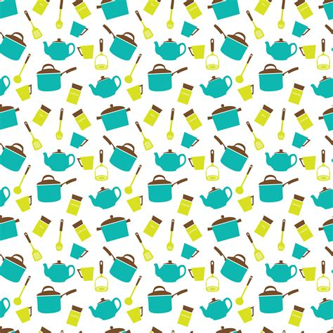 kitchen pattern clipart kitchen utensils crockery seamless pattern