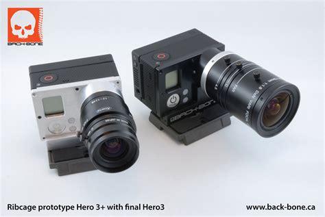 Gopro Lensa back bone cine mod gopro 3 nikon lens mount adapter 171 wide open