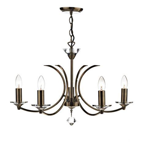 Dar Med0575 Medusa Ceiling Light Antique Brass 5 Light Dar Ceiling Lights