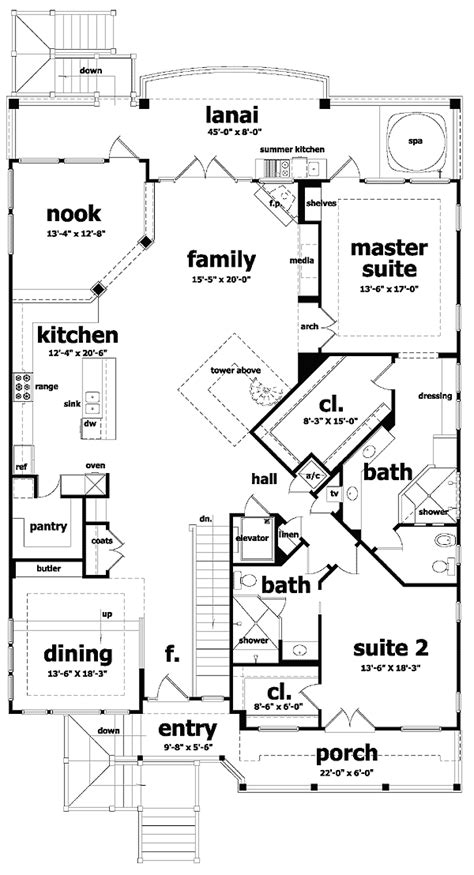 waterfront floor plans waterfront home plan with dramatic views 44004td