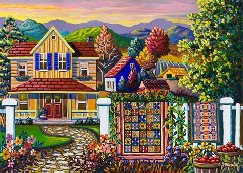 skinner country quilt wash day pc jigsaw puzzle