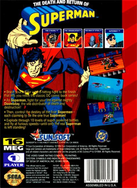 sega genesis superman sega genesis the and return of superman custom