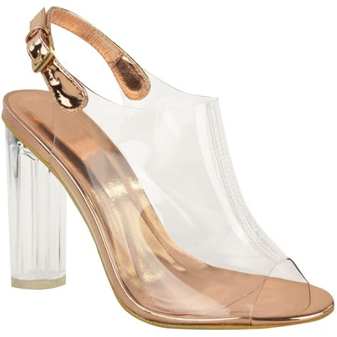 clear sandals heels womens high clear heels ankle strappy open toe