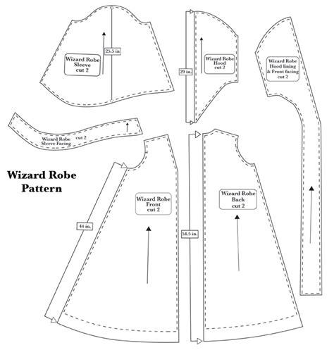 free pattern wizard clairesanders net wizard robe