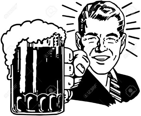 cartoon beer black and white cheers beers clipart 54