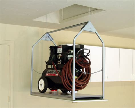 Garage Storage Lift Diy Diy Garage Ceiling Storage Hoist Home Design Ideas