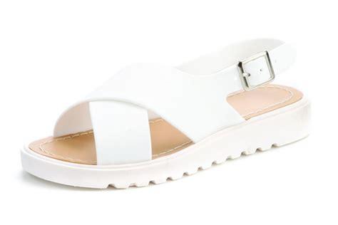 white cath flat sling back sandals slingback cross flat platform sandals