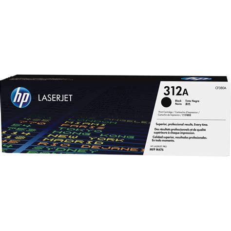 HP 312A Black LaserJet Toner Cartridge CF380A B&H Photo Video