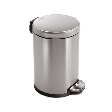 lowes kitchen trash cans simplehuman cw1852bl gallon brushed stainless steel indoor garbage can lowe s canada