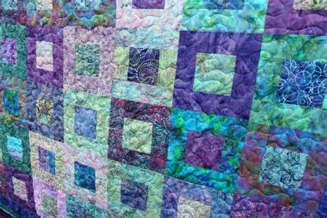 Teal Patchwork Quilt - rockpool batik patchwork quilt teal blue purple