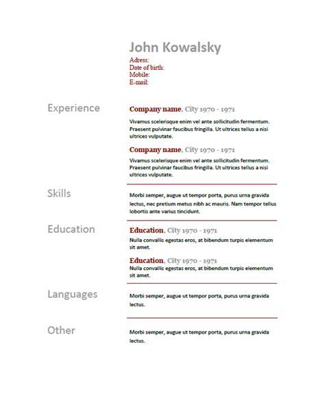 Language Levels Resume by Language Levels On Resume Resume Ideas