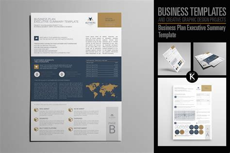 business plan executive summary template by keboto
