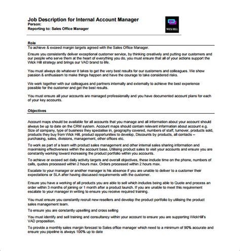10 Account Manager Job Description Templates Free Sle Exle Format Download Free Manager Description Template
