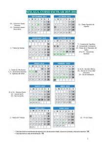 Calendario Escolar Andalucia 2015 Y 2016 Calendario Escolar Curso 2015 2016 Educaci 243 N En M 225 Laga