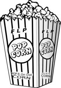 popcorn coloring pages flp popcorn clip at clker vector clip