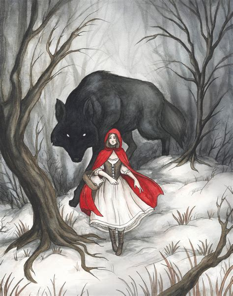 libro the big bad wolf little red riding hood by evanira on