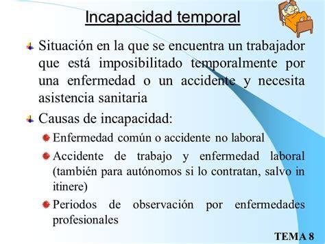 calculo de la incapacidad por accidente de trabajo incapacidad temporal y desempleo ppt video online descargar