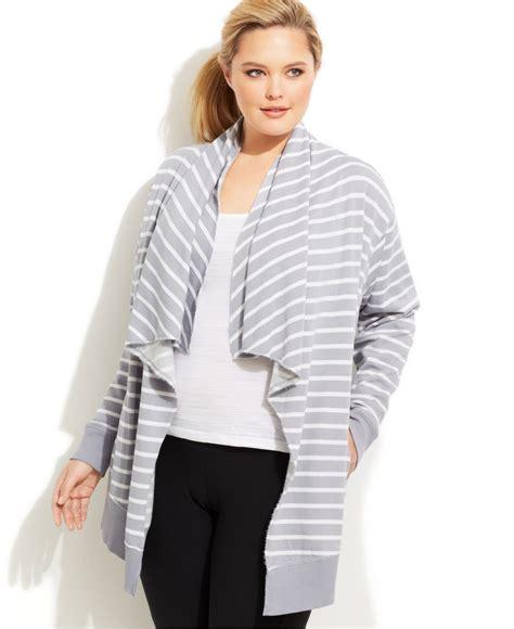 plus size draped cardigan calvin klein performance plus size draped striped cardigan