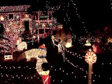 christmas light display in tewksbury ma 2010 youtube