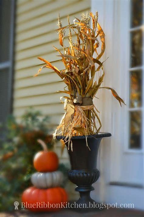 Fall Decorations With Corn Stalks by Best 25 Corn Stalks Ideas On Corn Stalk Decor