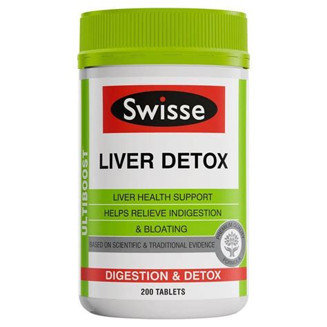 Liver Detox And Synthetic Fragrances by Swisse Ultiboost Liver Detox 200 Tablets Epharmacy