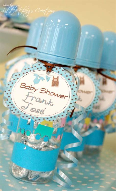 Blue For Boy Baby Shower brown and blue clothes and airplane baby shower