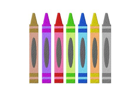 Free Crayon Machine Embroidery Design Daily Embroidery