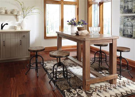 ashley pinnadel rectangular counter height dining table in pinnadel rectangular counter height dining room set d542