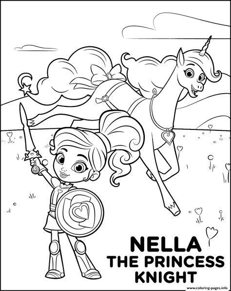 coloring pages knights and princesses nella the princess knight coloring pages printable