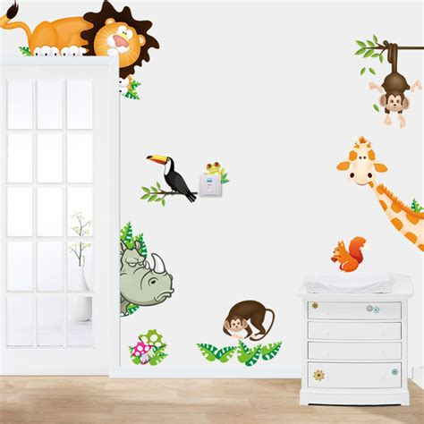 wall stickers decoration for home jungle animals lovely wall sticker for room