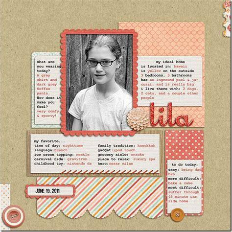 biography scrapbook ideas lila childhood biography layout favorite etc